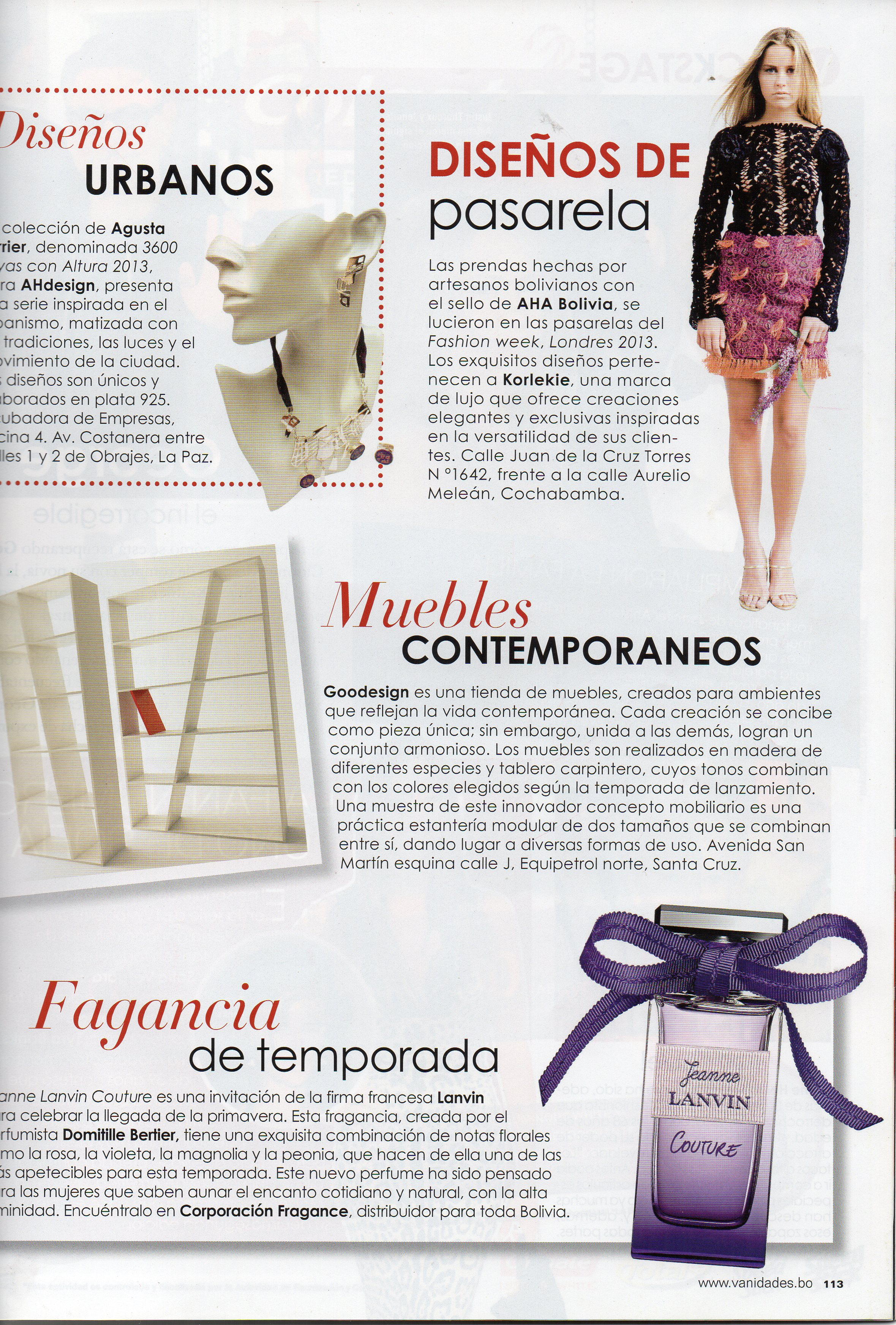 3 Aha Bolivia Korlekie # Muebles Fashion